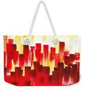 Urban Abstract Red City Lights Weekender Tote Bag