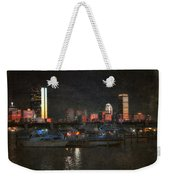 Urban Boston Skyline Weekender Tote Bag