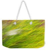 Urban Nature Fall Grass Abstract Weekender Tote Bag