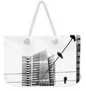 Urban Pigeons On Wires Weekender Tote Bag