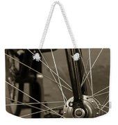 Urban Spokes In Sepia Weekender Tote Bag