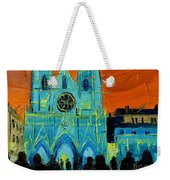 Urban Story - The Festival Of Lights In Lyon Weekender Tote Bag