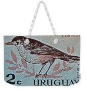 Uruguay Bird Stamp - Circa 1962 Weekender Tote Bag