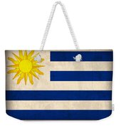 Uruguay Flag Vintage Distressed Finish Weekender Tote Bag