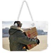 U.s. Air Force Airman Carries American Weekender Tote Bag