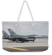 U.s. Air Force F-16c Planes Undergo Weekender Tote Bag