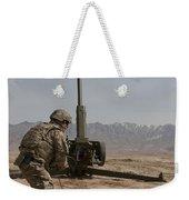 U.s. Army Soldier Fires A 122mm Weekender Tote Bag