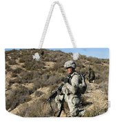 U.s. Army Soldier Scans For Simulated Weekender Tote Bag