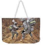 U.s. Army Soldiers Helps A Fellow Weekender Tote Bag