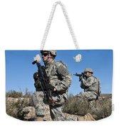 U.s. Army Soldiers Scan The Terrain Weekender Tote Bag
