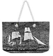 Us Brig Niagra Texture Overlay Bw Weekender Tote Bag