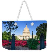 Us Capitol And Red Azaleas Weekender Tote Bag