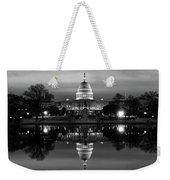 U.s. Capitol Building & Reflecting Weekender Tote Bag