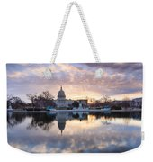 Washington Dc Us Capitol Building At Sunrise Weekender Tote Bag