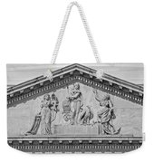 Us Capitol Building Facade- Black And White Weekender Tote Bag