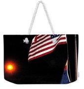 Us Flag Arizona Flag Twilight Casa Grande Arizona 2005 Weekender Tote Bag
