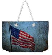 Us Flag -blue Antiqued Weekender Tote Bag