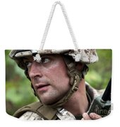 U.s. Marine Calls For Helicopter Weekender Tote Bag