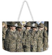 U.s. Marine Corps Female Drill Weekender Tote Bag