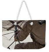 U.s. Marine Repositions A Satellite Weekender Tote Bag