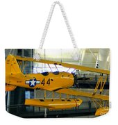 U.s. Navy Yellow Peril Float Biplane Weekender Tote Bag