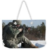 U.s. Soldier Fires His M4a3 Carbine Weekender Tote Bag
