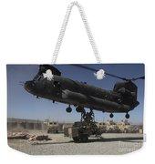 U.s. Soldiers Attach Sling Load Ropes Weekender Tote Bag