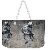 U.s. Soldiers Don Chemical Warfare Gear Weekender Tote Bag