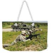 U.s. Soldiers Move Into Firing Weekender Tote Bag