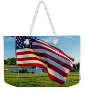 Usa Flag Weekender Tote Bag by Phyllis Bradd