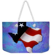 Usa Flagtexas State Digital Artwork Weekender Tote Bag
