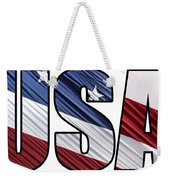 Usa In Red White And Blue American Patriotic Flag Weekender Tote Bag