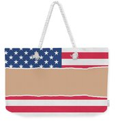 Usa Wrapping Paper Torn Through The Centre Weekender Tote Bag