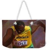 Usain Bolt 2012 Olympics Weekender Tote Bag by Vannetta Ferguson