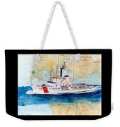 Uscg Alert Coast Guard Chart Map Art Peek Weekender Tote Bag