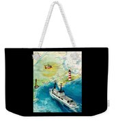 Uscg Chase Helicopter Chart Map Art Peek Weekender Tote Bag