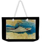 Uscg Cuttyhunk Nautical Chart Art Peek Weekender Tote Bag