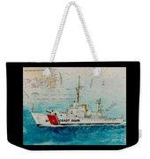 Uscgc Bibb Nautical Chart Cathy Peek Weekender Tote Bag