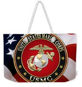 U S M C Eagle Globe And Anchor - E G A Over American Flag. Weekender Tote Bag