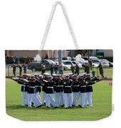 Usmc Silent Drill Platoon Weekender Tote Bag