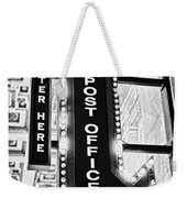 Usps Enter Here Weekender Tote Bag