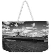 Uss Bowfin-black And White Weekender Tote Bag