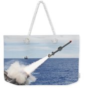 Uss Cowpens Launches A Harpoon Missile Weekender Tote Bag