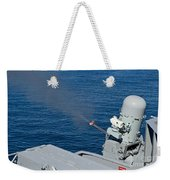 Uss Harry S. Truman Tests The Close-in Weekender Tote Bag
