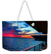 Uss Midway Sunset Weekender Tote Bag