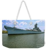 Uss New Jersey Weekender Tote Bag