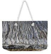 Utah Copper Mine Tailings Pile In Winter Weekender Tote Bag
