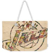 Utah Jazz Poster Art Weekender Tote Bag by Florian Rodarte