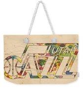 Utah Jazz Retro Poster Weekender Tote Bag