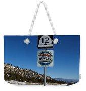 Utah Scenic Highway 12 In Snow Weekender Tote Bag
